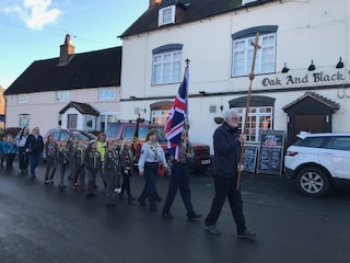 Remembrance Sunday parade, Stretton, 12 November 2017