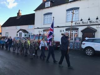 Remembrance Sunday parade, Stretton, 12 November 2017