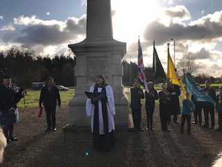 Gallipoli memorial, Stretton 12 November 2017