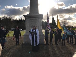 Gallipoli memorial, Stretton 12 November 2017