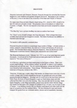 Draycote History p1