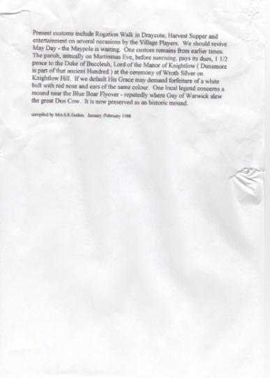 Draycote History p2